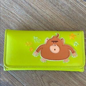 Plump monkey wallet by Fluff!  Brand new!